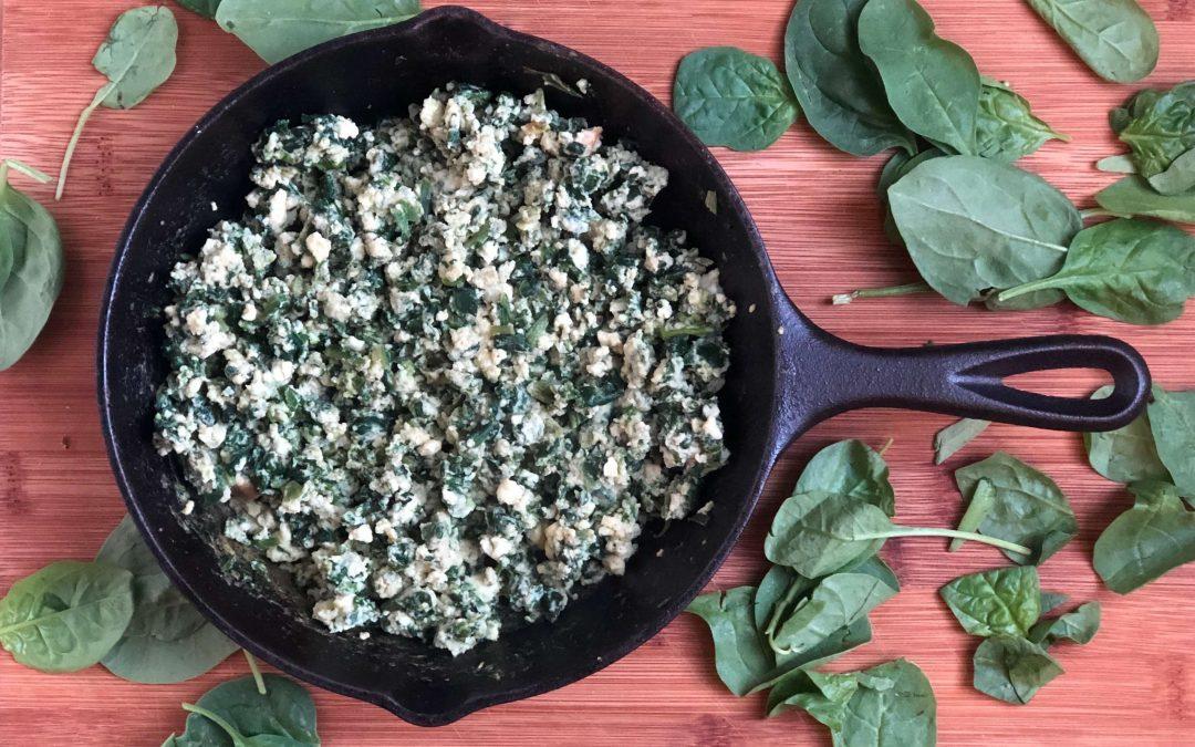 Easy Egg White Spinach Recipe